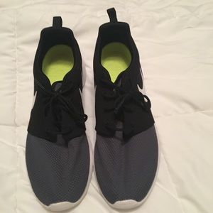 Nike black and gray shoes.